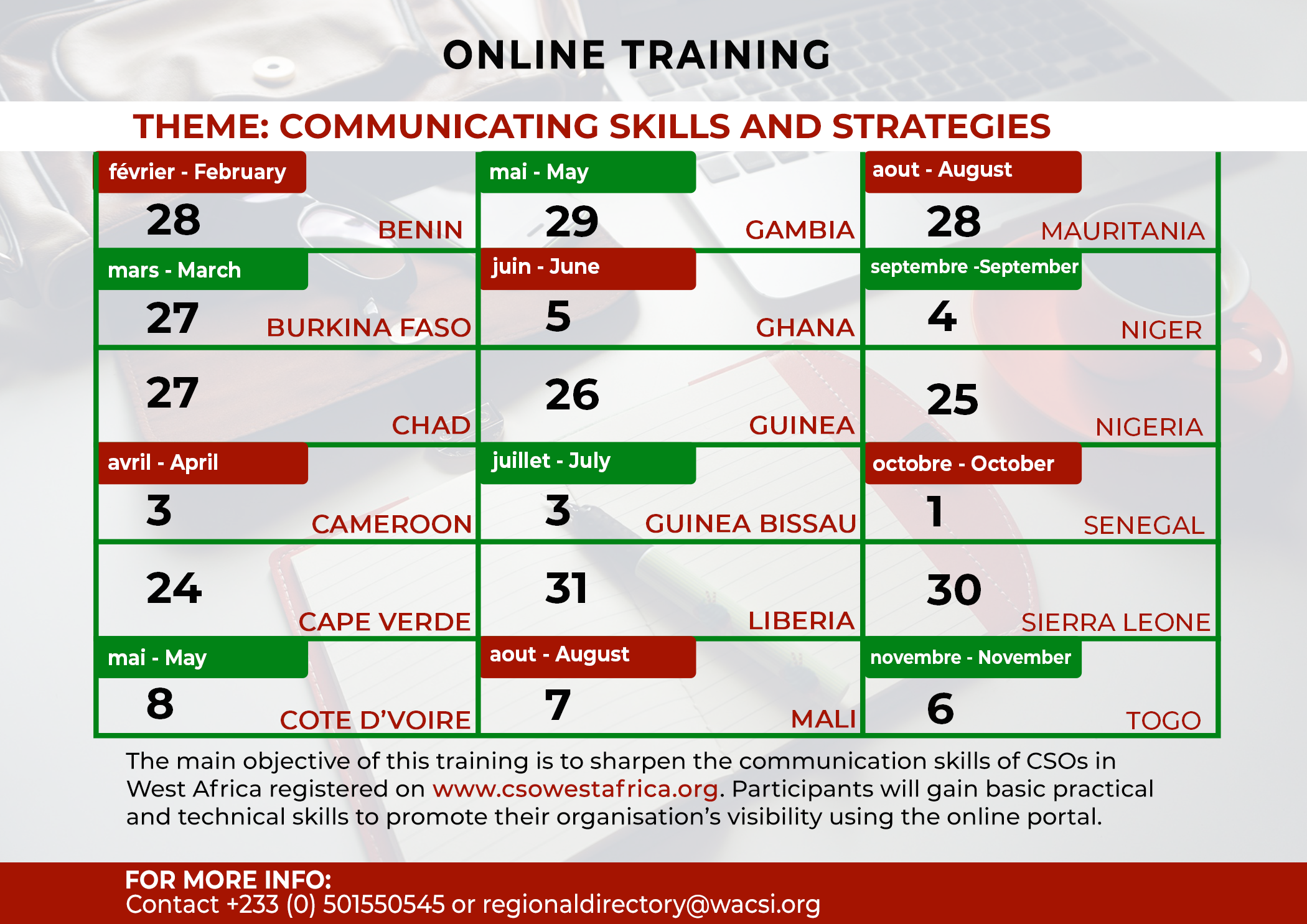 Free Online Training for CSOs in West Africa