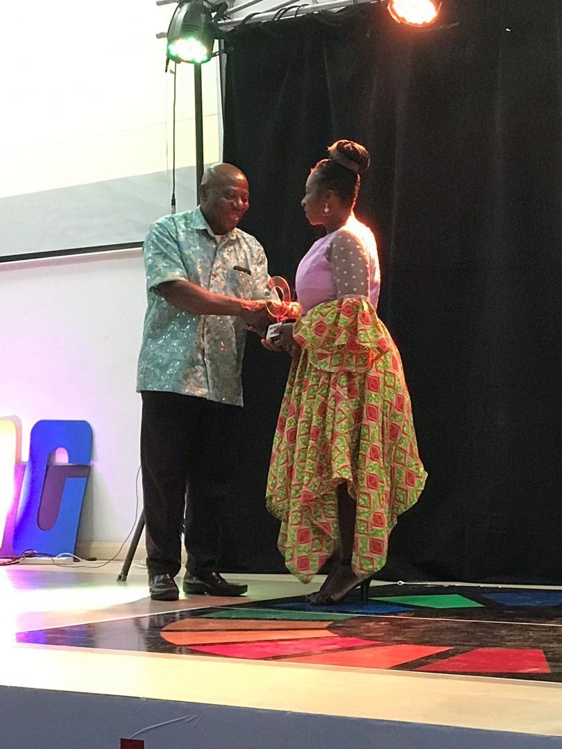 FOUNDER OF NCVOGHANA RECEIVING SDG 17 AWARD IN KUMASI, GHANA ON 7TH JANUARY 2020